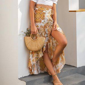 Bohemian Skirt Girl