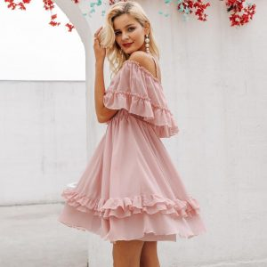 Esprit Bohemian Chic Pink Summer Dress