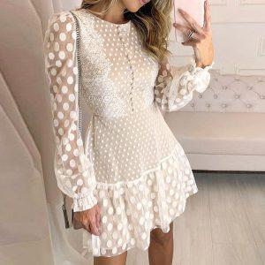 Hippie Chic White Short Dress