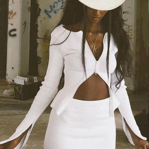 White Bohemian Blouse Woman