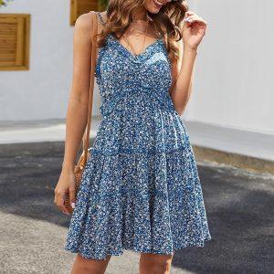 Bohemian Floral Summer Dress