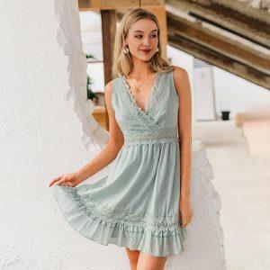 Bohemian Chic Wrap Short Dress