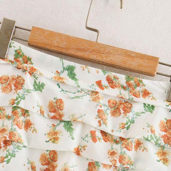 Bohemian Floral Short Skirt