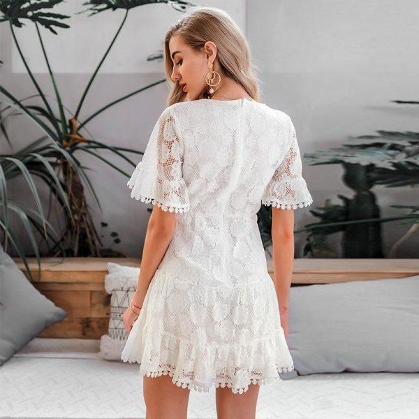 Bohemian Lace Short Dress