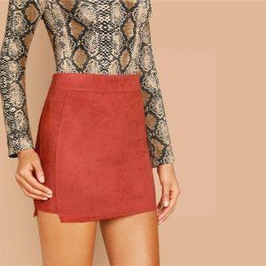 Bohemian straight skirt