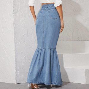 Long skirt boheme style