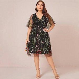 Dress boheme chic lace large size