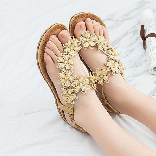 Bohemian Flower Sandals