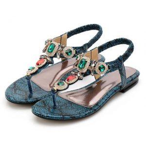 Bohemian Jewelry Flat Sandals