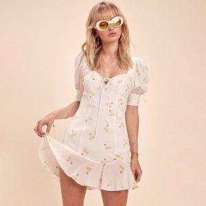 White hippie dress for women