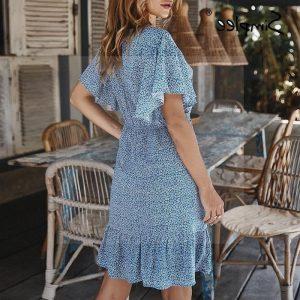 Blue hippie dress