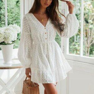 Hippie chic dress ecru