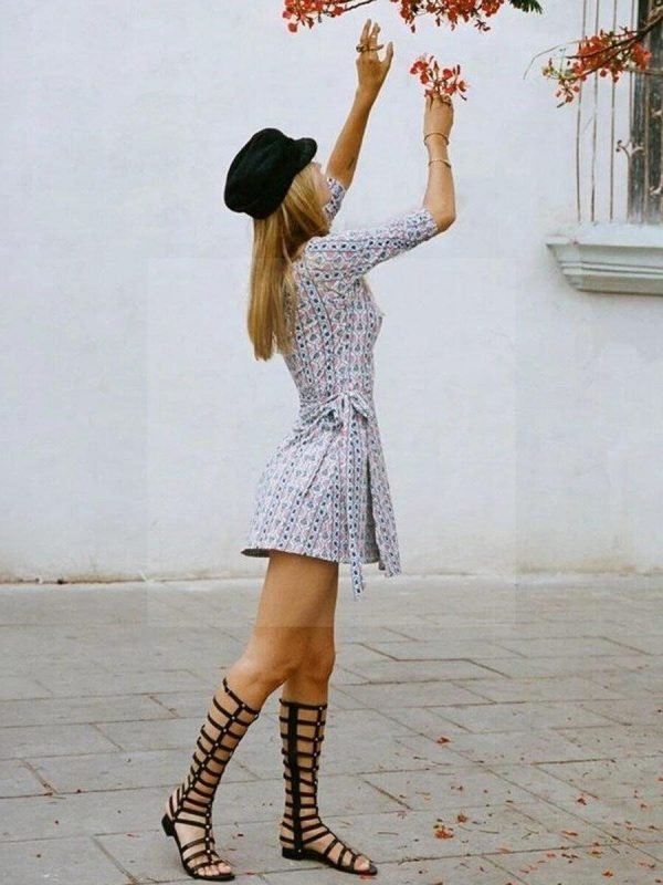 Dress hippie woman