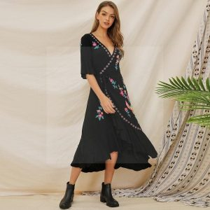Bohemian long dress winter gipsy bohemian