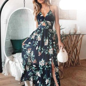 Bohemian style maxi dress for evening